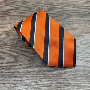 J. Crew Orange, Navy & White Stripe Tie